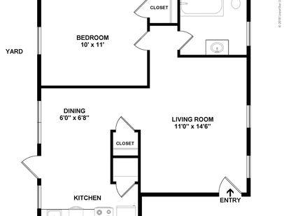 One Bedroom Plan